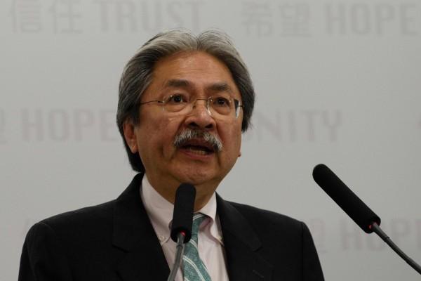 香港前財政司司長曾俊華也辭職參選特首。(法新社)