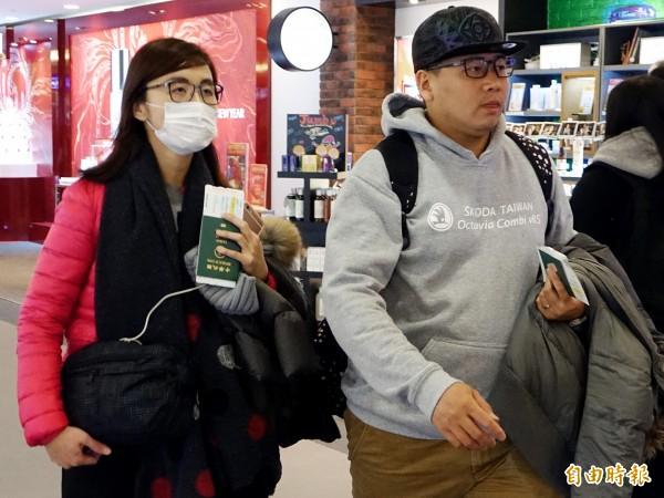 張欣茹家屬11日下午搭機赴港。(資料照,記者朱沛雄攝)