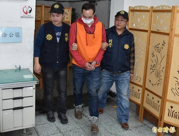 大學研究生陳男,涉嫌勒斃大他16歲的女老師。(記者楊政郡攝)