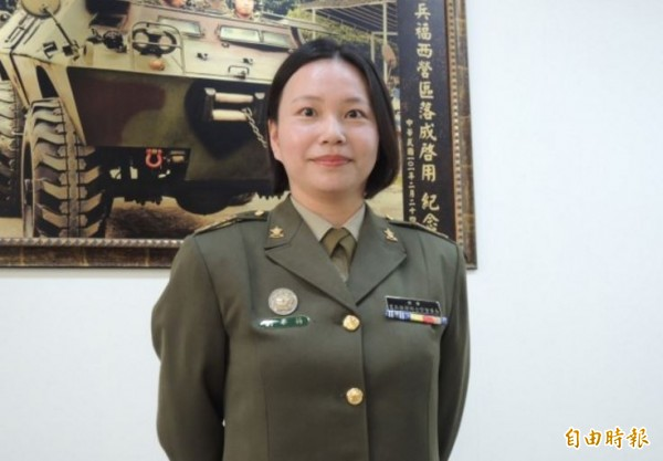 憲兵士官督導長劉畢莉,是三軍司令部層級士官督導長裡唯一的一位女性。(資料照,記者羅添斌攝)