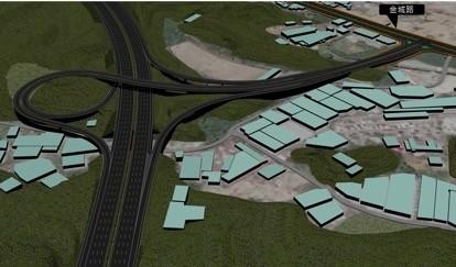 「北土城交流道」模擬圖。(交通局提供)