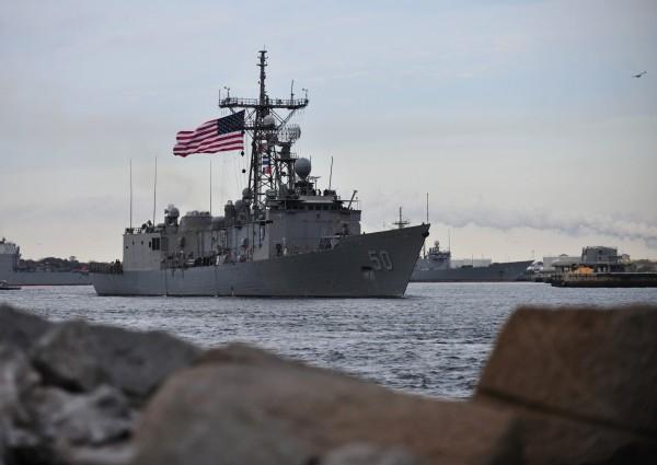 台灣向美方購買的兩艘派里級軍艦,國防部長馮世寬表示,第一艘3月就會接艦,5月左右回來台灣。(美國海軍網站)