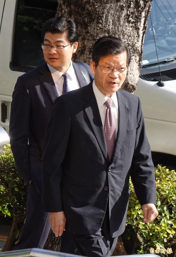 前中研院長翁啟惠(右)因浩鼎案,遭士林地檢署依貪污罪起訴。(資料照,記者劉信德攝)