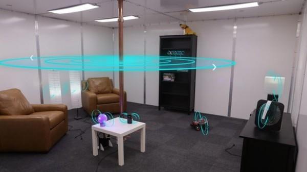 迪士尼研究團隊最近打造了1個無線充電房間,這個房間能自動幫室內所有的電子產品充電。(圖擷自YouTube)
