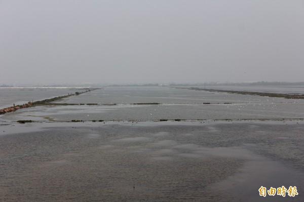內政部選定嘉南逾800公頃鹽業用地,打造光電專區。圖為布袋鹽田。(資料照,記者林宜樟攝)