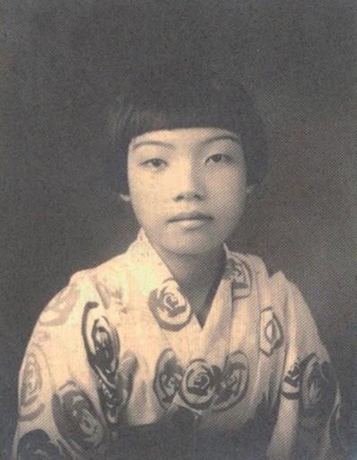 台灣文壇前輩作家杜潘芳格少女時代。(圖由國圖提供)