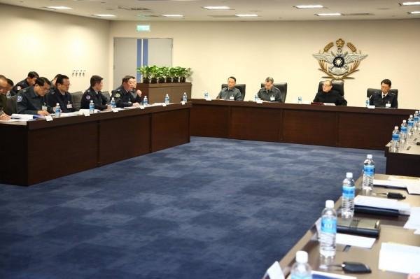 國防部長馮世寬今召開毒品防制工作指導會議。(軍聞社提供)