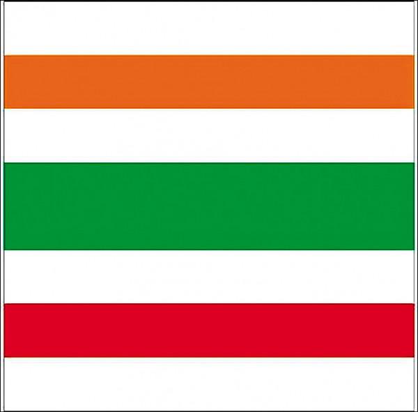 日本超商龍頭「7-ELEVEN」的白底橘綠紅條紋品牌辨識度極高,申請形象配色商標登錄案獲核准。(取自網路)