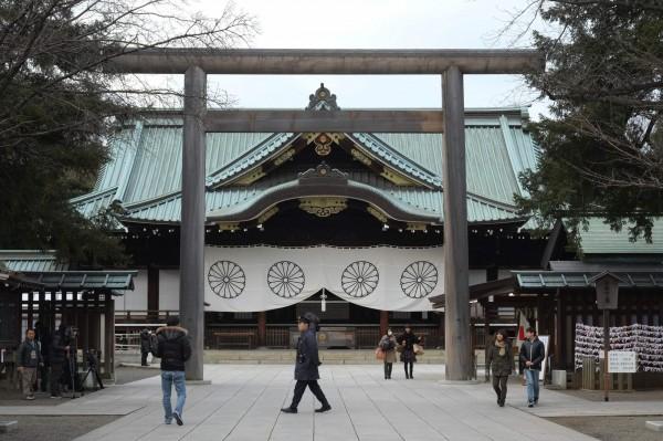 圖為東京靖國神社。(法新社)