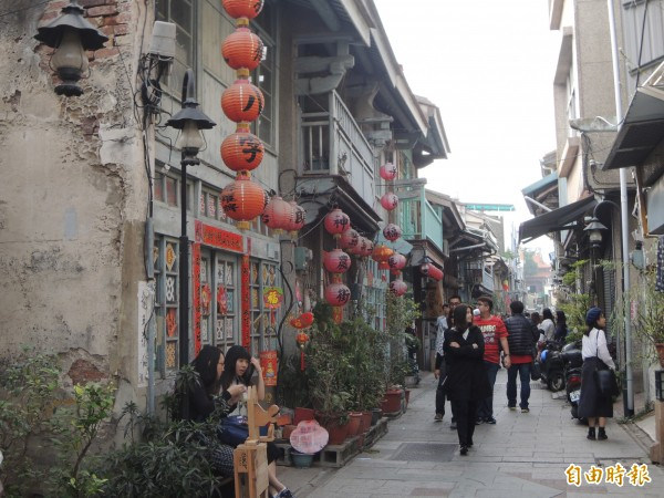 台南歷史街區漫步,老屋民宿正流行。(記者洪瑞琴攝)