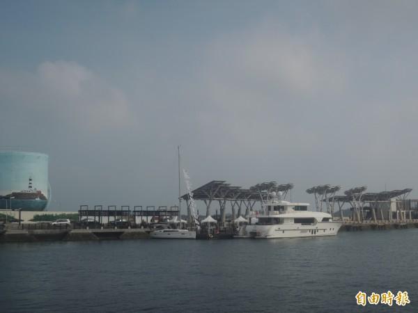 馬公第一漁港轉型為遊艇港,今年六月正式開幕。(記者劉禹慶攝)