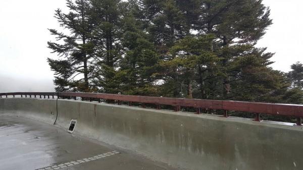 受些微水氣移入影響,合歡山今天上午短暫飄雪。(圖:仁愛分局提供)
