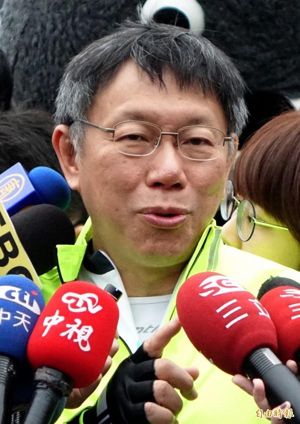 台北市長柯文哲被名嘴爆出如果連任失敗,就會爭取2020年總統大位,柯P今日表示他當時講的是「再說再說。」(資料照,記者朱沛雄攝)