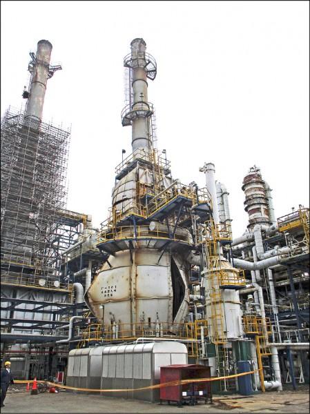 台塑六輕工業園區的台化苯乙烯廠,發生爐體破裂的工安意外。(縣府提供)