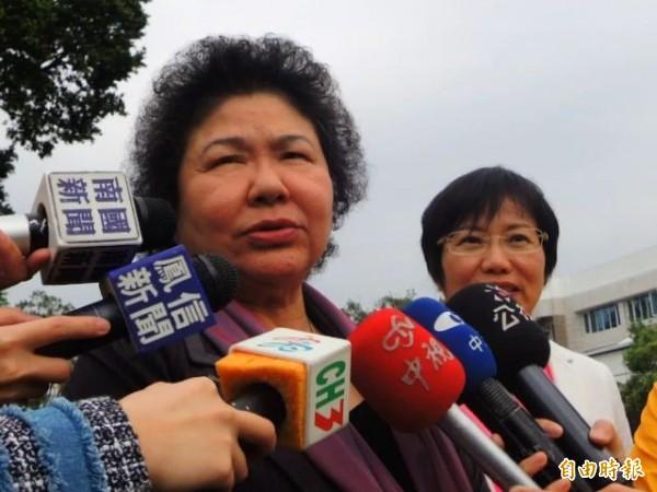 陳菊認為,勞動部有責任減少一例一休執行障礙。(記者黃旭磊攝)