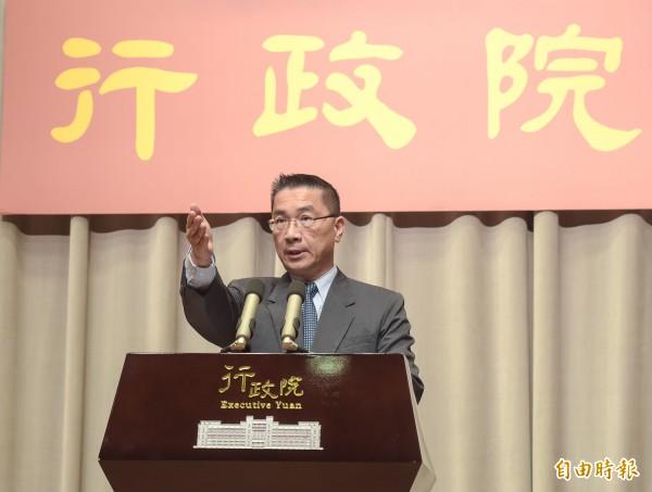 行政院發言人徐國勇。(資料照,記者黃耀徵攝)