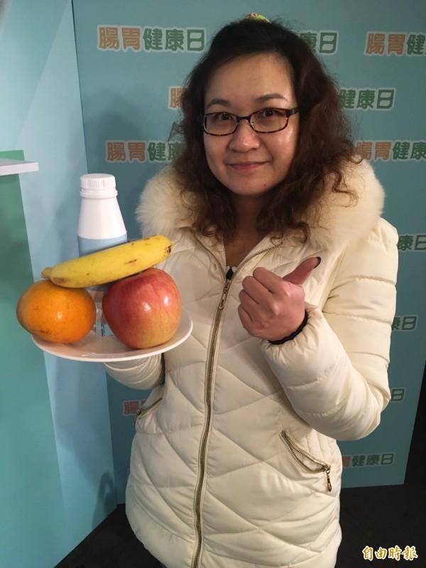 42歲擔任護理師的游小姐發現自己長瘜肉後就非常注意自己的飲食。(記者林彥彤攝)
