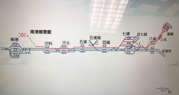 紅色路線為未來Tram-train行駛路線。(圖:鐵工局提供)