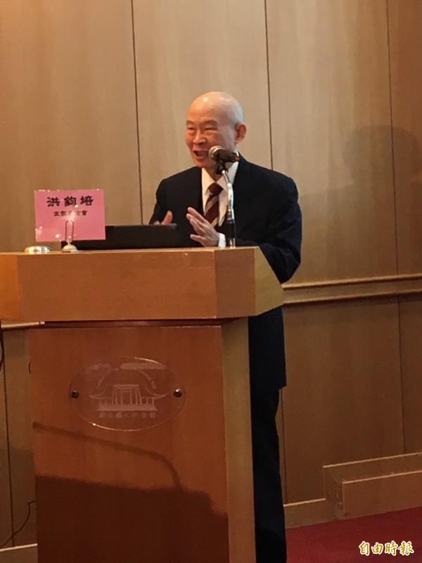 最高法院前院長楊仁壽今天上午發出公開道歉書,感佩李登輝拋棄相關權利。(記者陳慰慈攝)