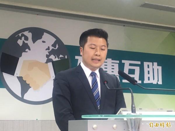 民進黨發言人張志豪表示,本會期《兩岸協議監督條例》已經列入優先法案中。(資料照,記者蘇芳禾攝)