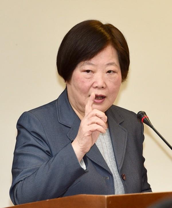 勞動部長林美珠22日在立法院接受質詢。(記者羅沛德攝)