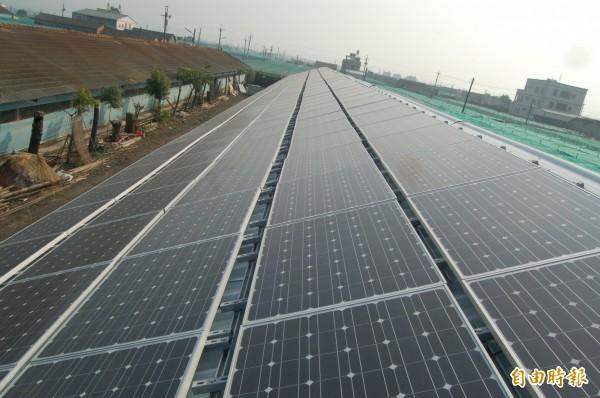 雲林縣太陽能光電裝置量全國第一。(記者林國賢攝)
