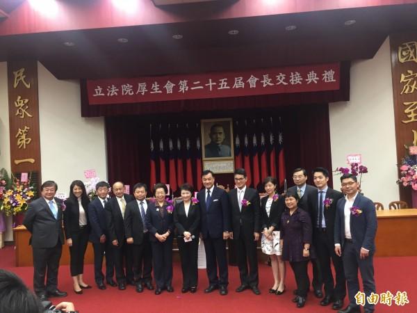 立法院厚生會今進行第25屆會長交接。(記者彭琬馨攝)
