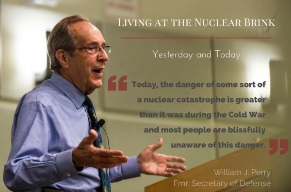 美國前國防部長裴利今以「我在核戰邊緣的旅程」為題在台北發表演講。(翻攝自裴利計畫官網)