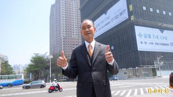 針對大巨蛋一案,遠雄企業團董事長趙藤雄今天表示,近期會找時間一次講清楚。(記者徐義平攝)