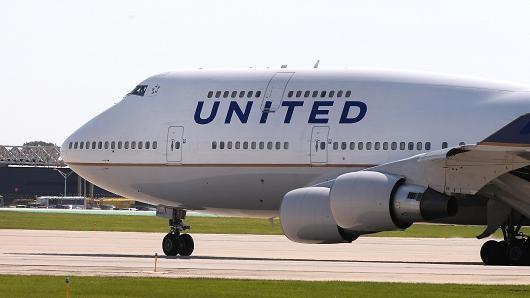 美國聯合航空班機。(取自《CNBC》)