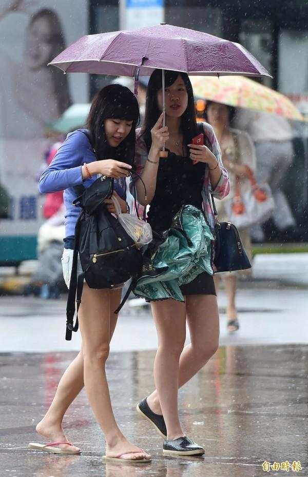 下雨天時會有一種獨特氣味。(資料照,記者廖振輝攝)