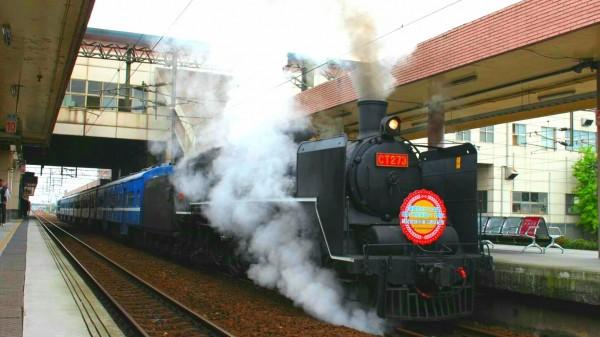 CT273蒸汽火車將為綠博開進宜蘭,預計停靠冬山瓜棚火車站。(讀者張維麟提供)