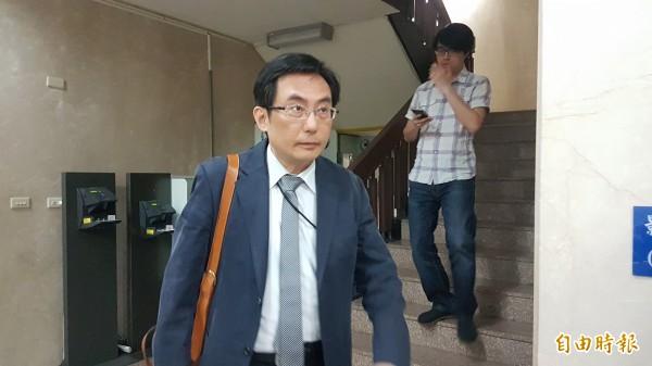 釐清興航案相關案情,北檢約談中興保全發言人朱漢光。(記者錢利忠攝)
