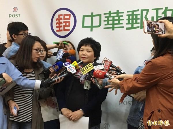 中華郵政表示,中華郵政自九七年開始就在參與長照最後一哩路。(記者蕭玗欣攝)