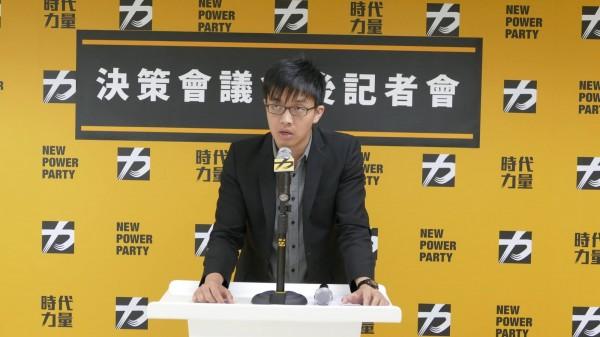 時代力量智庫新任副執行長彭盛韶,曾是台北市長柯文哲競選台北市長時,「老鼠尾」事件主角。(時代力量提供)