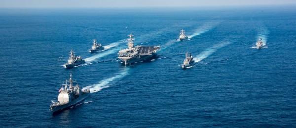 南韓消息指出,卡爾文森號本週末就會抵達朝鮮半島鄰近海域。(圖擷取自USS Carl Vinson臉書)