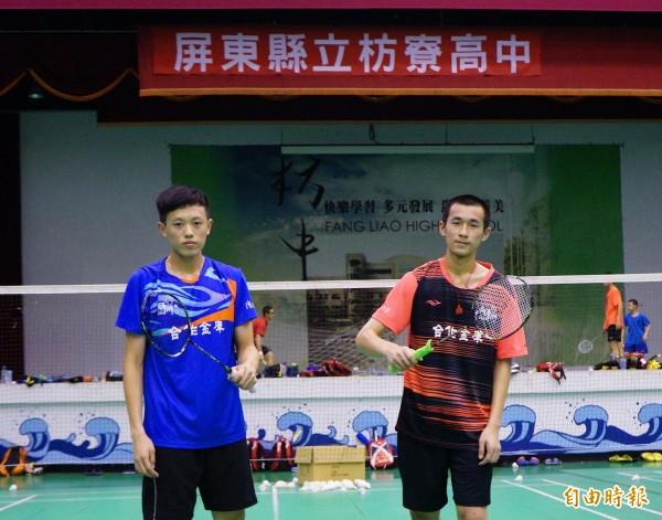 黃品銜(紅衣)和林俊易(藍衣)皆拿下國手資格。(記者陳彥廷攝)