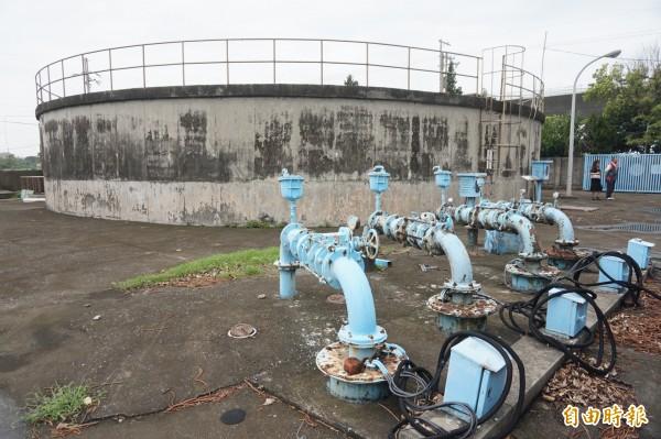 大安淨水場抽取地下水淨化後供大安區居民使用。(記者歐素美攝)