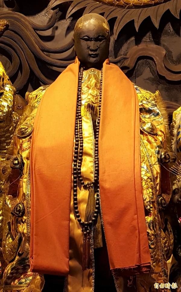 台中大里福興宮「湄洲軟身二媽」,經科學儀器鑑定,證實是清朝中期的文物,獲文化部指定為全國唯一神像類的「重要古物」。(記者陳建志攝)