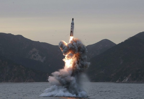 北韓試射飛彈。(歐新社資料照)