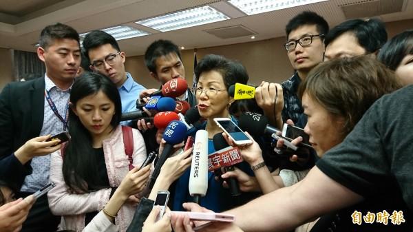 陸委會主委張小月指出,現在談張向忠政治庇護問題尚早,需先釐清事實情況。(記者陳鈺馥攝)