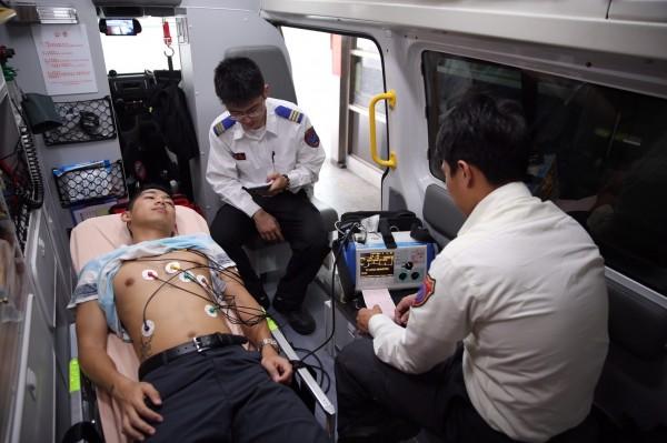 救護新里程碑,以後台北市的心肌梗塞患者,從打119到打通血管,可一氣呵成。(記者姚岳宏翻攝)