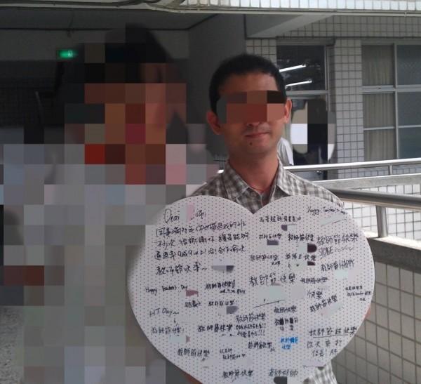 林姓男老師(右)涉嫌以電玩誘騙國小生到家裡猥褻。(記者陳薏云翻攝)
