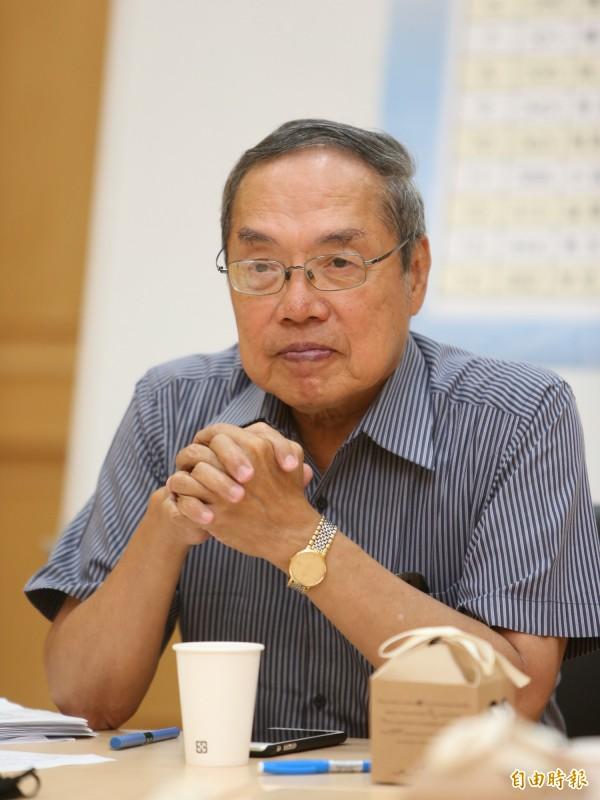針對反年改抗爭,陳芳明今建議,「群眾應該包圍國民黨」。(資料照,記者陳逸寬攝)