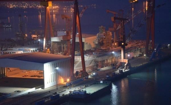 港媒爆料,中國自製航母仍短時間內仍無法下水。(圖擷自網路)