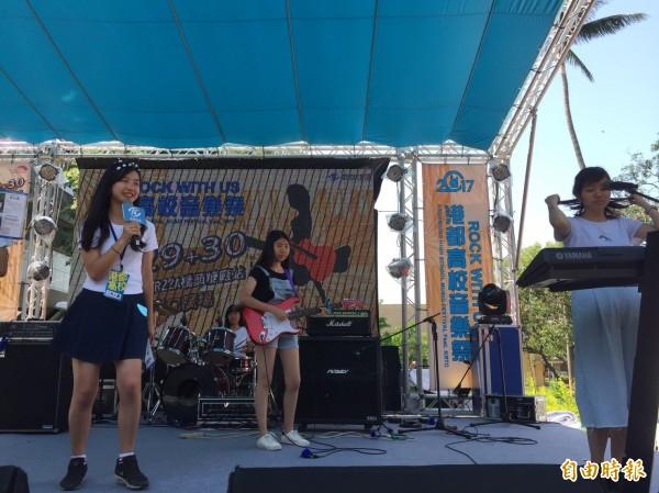 高捷公司舉辦「港都高校音樂祭」。(記者葛祐豪攝)