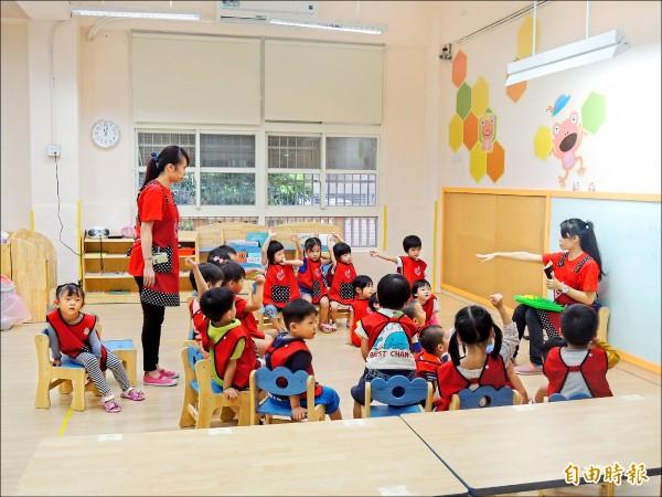 環保署規劃將兩百人以上幼兒園室內空氣品質納入管制,明年進行評估。圖中人物與新聞無關。 (資料照,記者蔡亞樺攝)