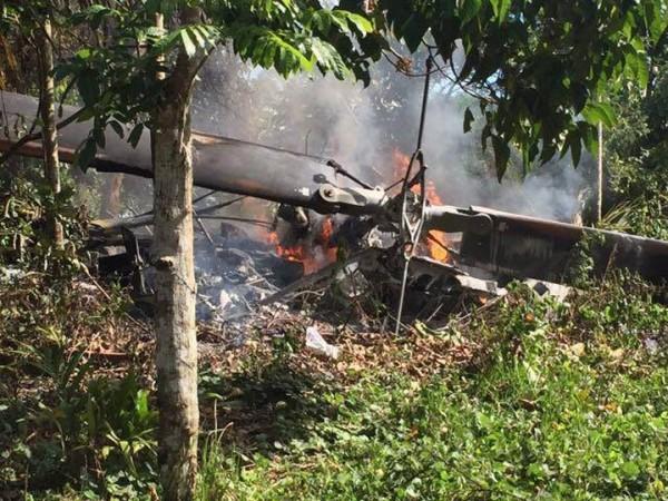 菲律賓空軍直升機墜毀,目前傳出3死1傷。(圖擷自mb.com.ph)