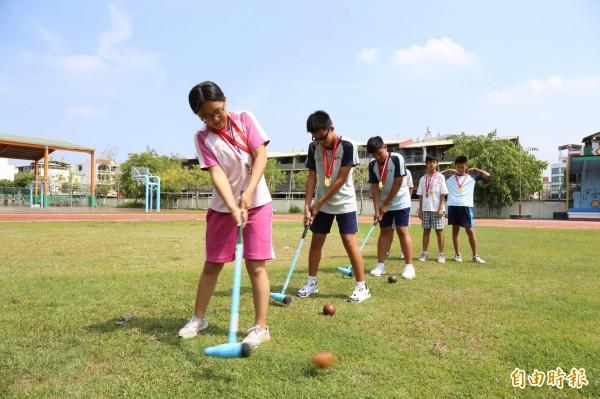 木球運動在屏東越來越夯,成為奪牌重點項目。(記者邱芷柔攝)