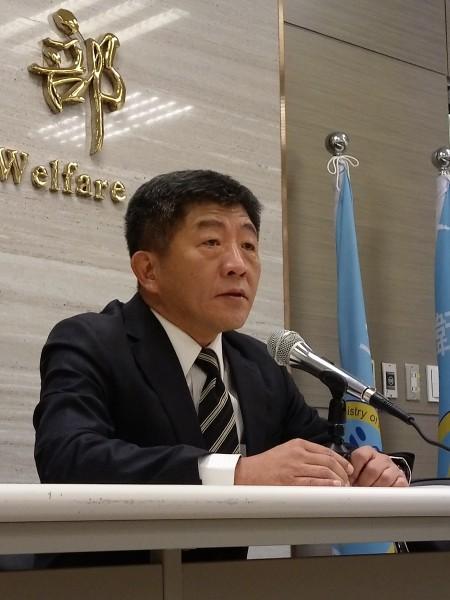 衛福部長陳時中緊急召開記者會,表達對無法收到WHA的邀請函不滿與遺憾。(記者吳亮儀攝)